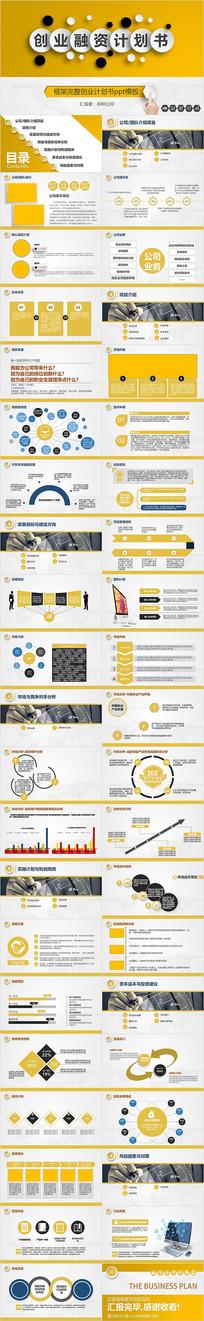 创业融资计划书营销策划商业计划书PPT