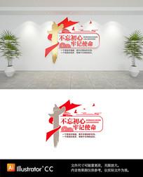 党建社区党员活动室文化墙