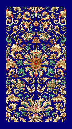 古典吉祥圖案寶相花紋