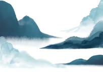 原创手绘中国风古典水墨画山水素材PSD