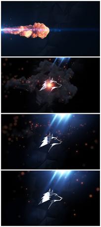 震撼烟雾爆炸出logo视频模板