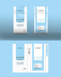 极简纯色高端矢量化肥袋包装设计