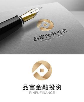 金融銅錢logo