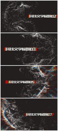 科技故障文字plexus标题宣传视频模板