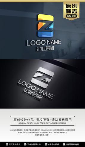 空间立体感ZL标志LZ字母标志