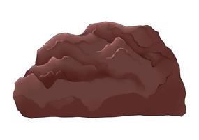 原创手绘插画中国风古典石头