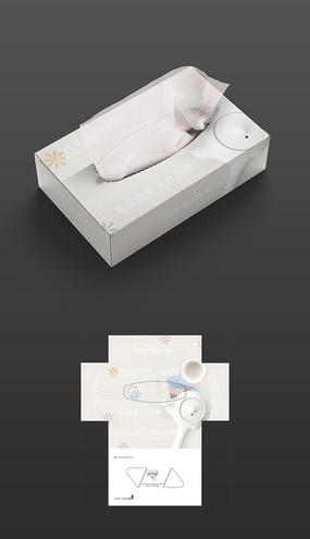 中国风陶瓷茶具抽纸盒包装设计