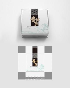 中式高端黑白大气普洱茶叶包装礼盒