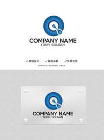 Q字母科技金属质感标志