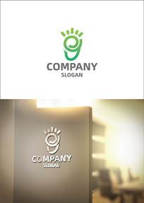创意脚丫幼儿园logo