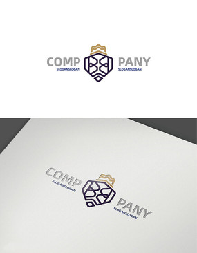 创意字母双b皇冠logo