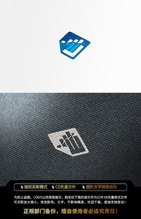 海洋金融基金网络蓝色LOGO标志设计