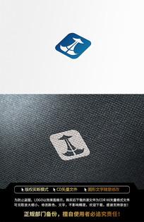 海洋运输鲸鱼蓝色LOGO标志设计