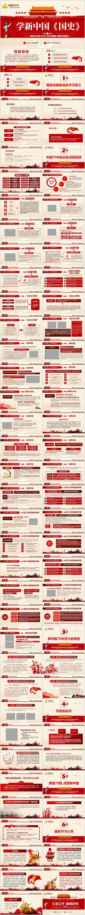 建国70周年新中国史党课ppt