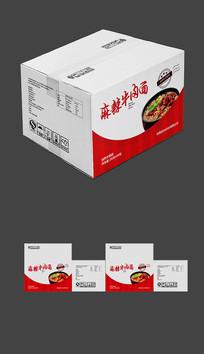 麻辣牛肉面包装纸箱设计图