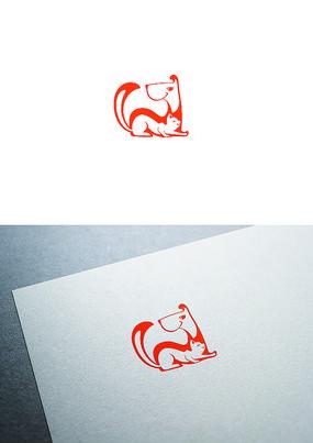 猫狗宠物卡通logo