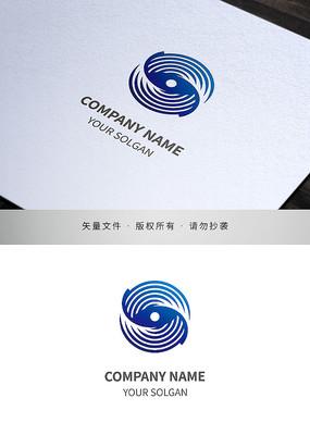 旋轉圖形科技IT類標志設計