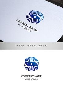 旋转图形科技IT类标志设计