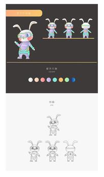 原创卡通兔子IP形象
