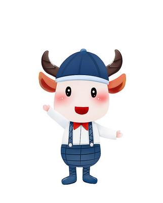 原创可爱卡通动物牛