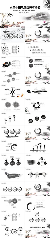 中国风工作总结汇报PPT