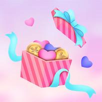 粉色清新可爱礼盒