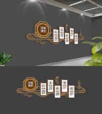 素雅中式经典国学校园文化墙