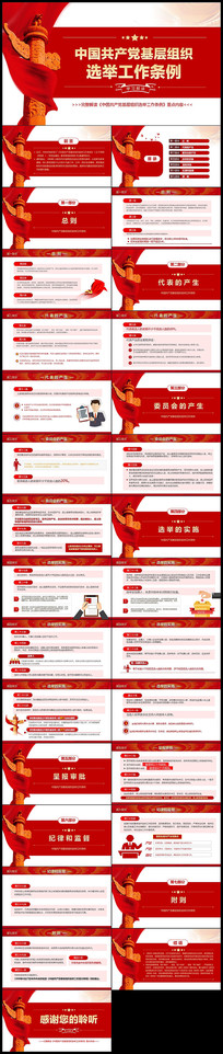 学习中国共产党基层组织选举工作条例PPT
