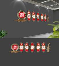 中式经典国学校园文化墙