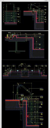 CAD建筑剖面图节点大样图施工图