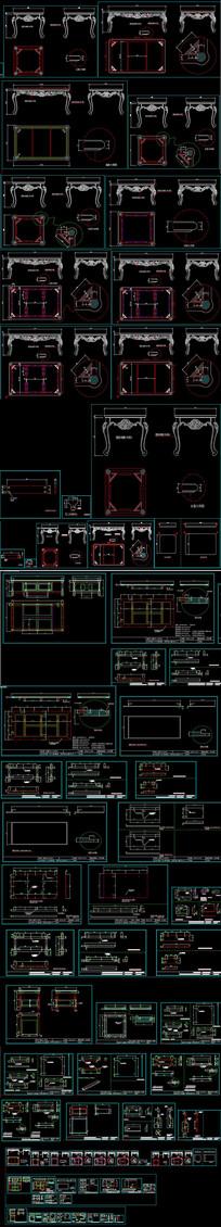 茶几生产加工CAD图纸