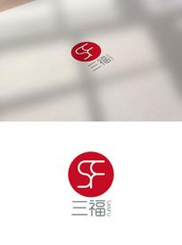 福气标志红色标志三福logo