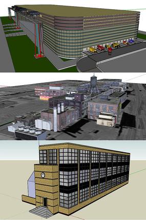 工廠建筑SU模型