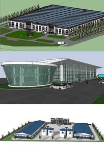 工厂建筑设计模型