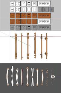构件五金SU模型设计