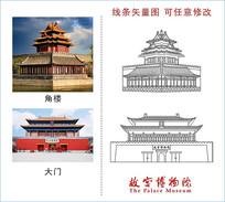 故宫博物馆矢量图
