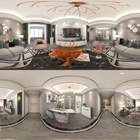 荷苑现代风格客餐厅设计图