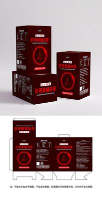红色保健品包装