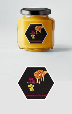简约大气高端蜂蜜瓶标签设计