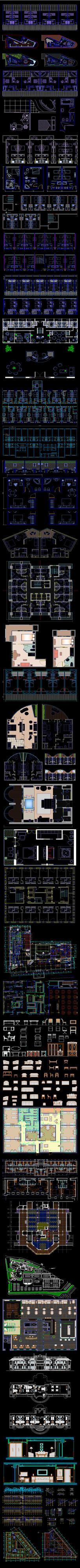 酒店相关CAD图纸集合
