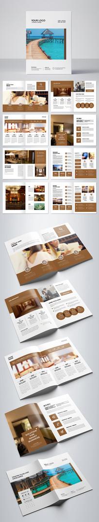 酒店宣传册会议画册民宿画册设计模板