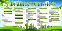 绿色清新春夏季健康教育宣传栏