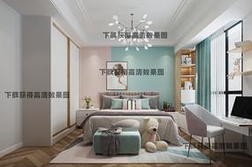 女儿房女生房间卧室房间装修效果图