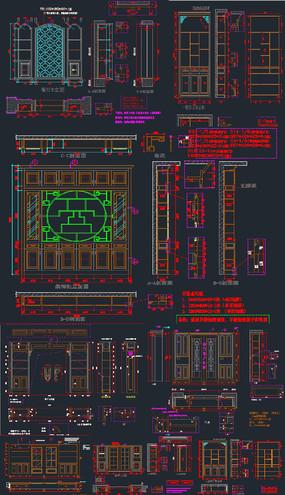 愽古柜屏风隔断CAD
