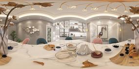轻奢餐厅3D模型设计