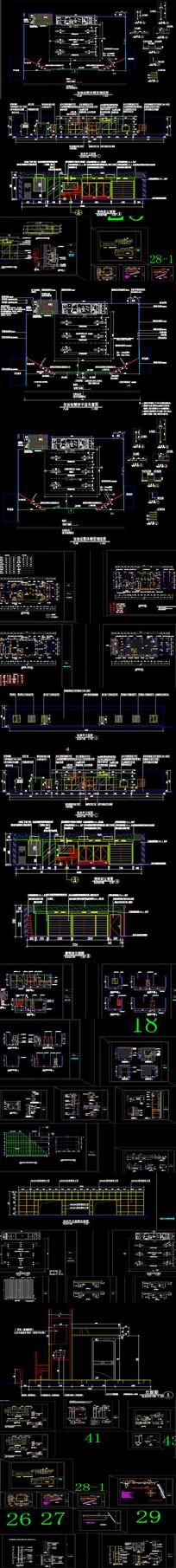全套加油站改造装饰消防CAD施工图