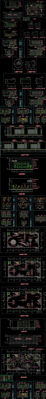 全套企業形象展廳CAD施工圖