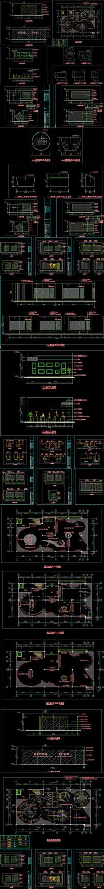 全套企业形象展厅CAD施工图
