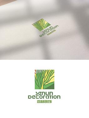 森林树logo装修标志