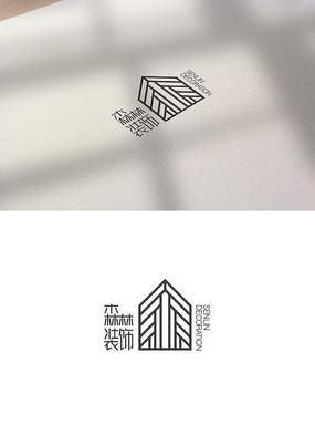 森林装饰logo装修标志